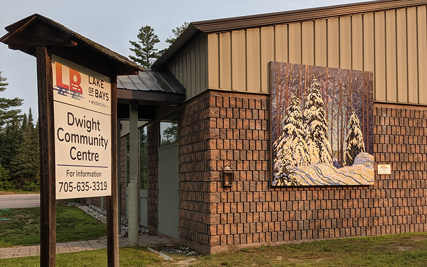 dwight community centre sign and mural 2021.jpg